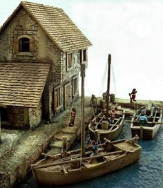 The harbour beautifully made model