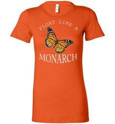 Bella Ladies Favorite Tee Float Like A Monarch White