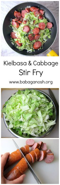 Kielbasa and Cabbage Stir Fry #ethnic #recipe #vegetables