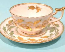 Taza de té de Chelsea real y platillo inglés tazas de té, tazas de té blanco…