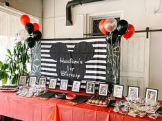 Mickey Mouse Backdrop for Parties | Mickey Photo Backdrop #mickeybirthday #1stbirtdayparty Mickey Mouse Backdrop, Mickey Mouse Theme Party, Mickey Mouse Birthday Cake, Birthday Backdrop, Birthday Party Themes, Birthday Ideas, Mouse Photos, Wall Banner, Custom Banners