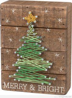 String Art DIY Christmas Tree #christmasdecorationsdiy