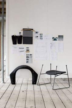 Masculo manufactured by GUBI // 2011 The Masculo chair is based on a strong contrast, as manifested in the opposition between the expressive and characteristic backrest supported by a light metal structure. Danish Furniture, Design Furniture, Chair Design, Estilo Interior, Interior Styling, Architecture Design, Metal Structure, Modern Chairs, Design Process