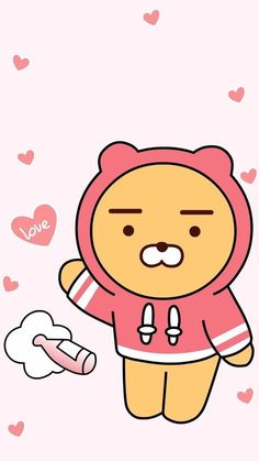 카카오프렌즈 라이언 Funny Iphone Wallpaper, Bear Wallpaper, Kawaii Wallpaper, Ryan Bear, Kakao Ryan, Cute Lockscreens, Cute Food Drawings, Kakao Friends, Presents For Friends