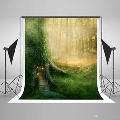 5x7ft150x220cm Spring Green Photography Backdrops Natural Scenery Dream Tree House Background for Children Photographic Backgrounds Green Backdrop Spring Background Natural Scenery Photography Backdrops Children Backdrop Online with $156.12/Piece on Fanny08's Store | DHgate.com