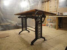 Elegant Iron Machine Table Base Legs Industrial Furniture Antique Vintage Cast | eBay