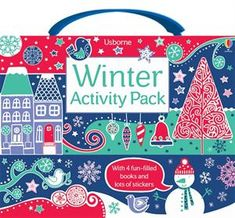 Winter Activity Pack: These exciting gift packs come in a carrying case with Velcro enclosure, and include four titles full of activities, puzzles and games sure to delight and entertain.  The four titles included are the reduced versions of the following titles: 1001 Things to Spot at Christmas, Christmas Doodling and Coloring, Winter Wonderland Sticker Book and Sticker Dolly Dressing Winter.