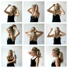 Messy sixties ponytail tutorial