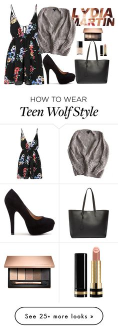 """""""Lydia Martin"""" by ideknicole on Polyvore featuring Topshop, Glamorous, Chanel, Gucci, Yves Saint Laurent, TeenWolf and LydiaMartin"""