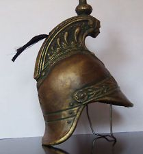 Vintage Roman Fireman Helmet antique face mask fire fighter Rome