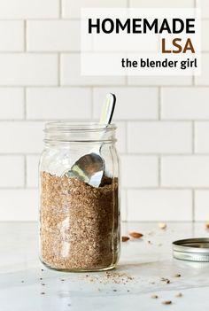 Homemade LSA | Flax Seed, Sunflower Seed, Almond Mixture | The Blender Girl