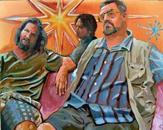 """Yeah, Well That's Just, Like, Ya Know, Your Opinion, Man"" original art from The Big Lebowski Series by Chuck Hamilton,  A. T. HUN Art Gallery, Savannah, GA.  16"" X 20"" print available at athun.com."