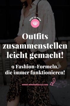 Making outfits easy: 9 fashion formulas that always work - Fashion - Mode - Kleid Fashion Tag, Fashion Mode, Look Fashion, Spring Fashion, Fashion Beauty, Fashion Outfits, Fashion Trends, Fashionable Outfits, Fashion Stores