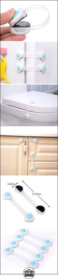buydirect-niño bebé Cinturones de seguridad Lock Latch azul para armario puerta Nevera cajón armario armarios aparatos-Asiento para inodoro con tapa Pack de 10  ✿ Seguridad para tu bebé - (Protege a tus hijos) ✿ ▬► Ver oferta: http://comprar.io/goto/B06VVTHS57