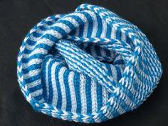 et voila - snood en deux tours réversible - créez votre look! com dab fait main en laine et alpaga