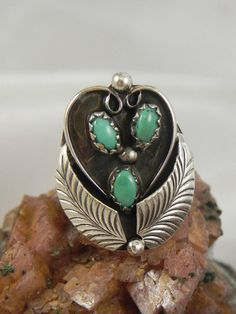 Native American Turquoise Ring by hollywoodrings on Etsy