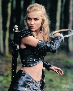 Ahhh the memories... Xena's soul in Callisto's body. Hudson Leick  Best Abs in the world.