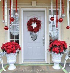 Amazing Front Door Decoration Ideas For Winter 15