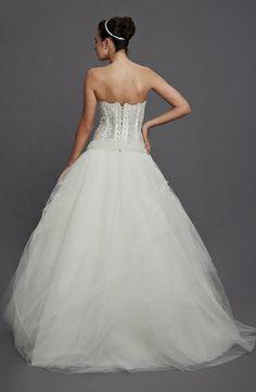 Pnina Tornai Princess/Ball Gown Wedding Dress with Strapless Neckline and Dropped Waist Waistline | Hudson's Bay