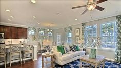 Summerville new homes The Oaks at Cane Bay Open family room and kitchen
