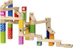 Houten Knikkerbaan 54-Delig inter toys. 19.95