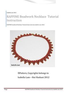 RAFFINE SuperDuo Beadwork Necklace Pdf tutorial by bead4me on Etsy