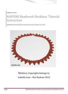 RAFFINE SuperDuo Beadwork Necklace Pdf tutorial by bead4me on Etsy