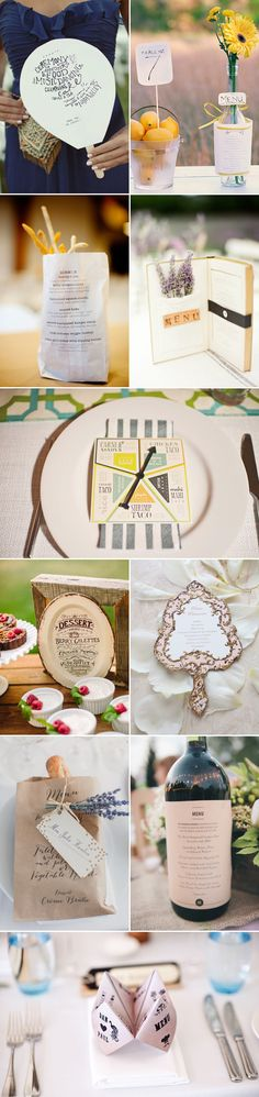 30 Creative Wedding Menu Ideas