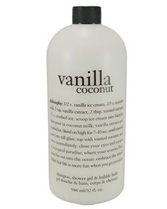 Philosophy Vanilla Coconut Shampoo Shower Gel Bubble Bath 32 Oz * Visit the image link more details. (This is an affiliate link) Coconut Shampoo, Body Shampoo, Body Cleanser, Fragrance Parfum, Bubble Bath, Vanilla Ice Cream, Seed Oil, Shower Gel, Body Wash