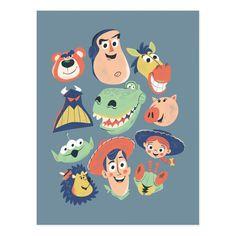 Cute Disney, Disney Art, Disney Pixar, Toy Story Alien, Toy Story Buzz, Woody, Custom Posters, Vintage Posters, Festa Toy Store