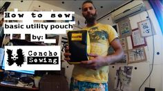 How to sew a basic utility pouch with molle on the back (DIY) - video tutorial by Concho Sewing