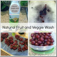 Naturally Wash and Prepare Fruit and Veggies