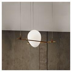 Federico Peri - Shapes pendant lamp, Triangle + Egg Industrial Lighting, Modern Lighting, Lighting Design, Chandeliers, Ceiling Lamp, Ceiling Lights, Lighting Techniques, Lamp Design, Light Decorations