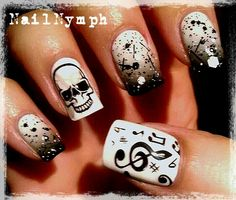 """rock """" roll nail art nails"""
