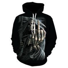 Capuche-Squelette Biker-Steampunk Rider-Spiral Gothic Hoody Hoodie