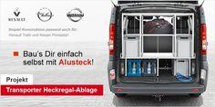 Heckregal-Ablage Heckgarage bauen Fahrzeugausbau Kleinbus Transporter Renault Trafic Opel Vivaro Nissan Primastar