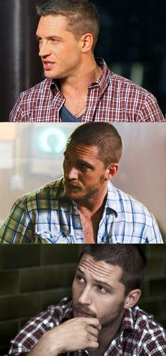 No other man can pull off plaid like Tom Hardy