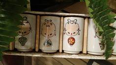 Interesting vintage Japanese cup set