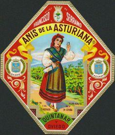 Anís la Asturiana. Oviedo, Asturias