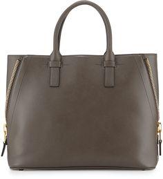 Tom Ford Jennifer Medium Trap Tote Bag, Graphite
