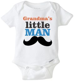 Grandma's Little Man Super cute baby onesie Grandma/Grandpa/Auntie/Uncle baby onesie Baby boy clothing Baby boy outfit Newborn outfit by mkclassyprints on Etsy https://www.etsy.com/listing/247654541/grandmas-little-man-super-cute-baby
