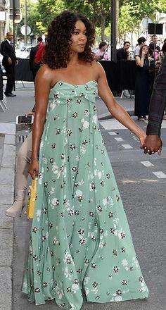 Gabrielle Union in Valentino attends the Valentino Men's fashion show in Paris. #bestdressed