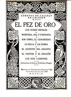 Cuentos de Calleja en colores : 8ª serie/ ilustraciones de Zamora, Robledano, Penagos (1922)
