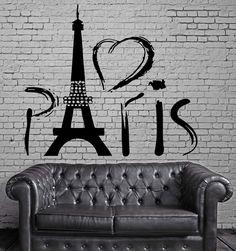 Paris Eiffel Tower Europe Tourist Mural Wall Art Decor Vinyl Sticker z706