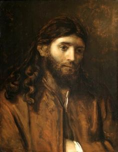 'Head of Christ', Rembrandt, painting he captured characteristic of humbleness. AMAZING.