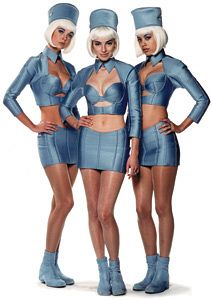 Air Hostesses from the Fifth Element: Designs by Jean Paul Gaultier