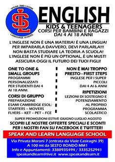 #corsi #inglese #insegnare #imparare #parlare #Milano #sesto speakandlearn@live.it
