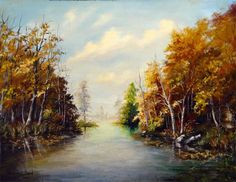 """Manchester University art collection - """"Approach to the Lake (Lake Maxinkuckee looking west from the marina)"""" Theodore E Good"""