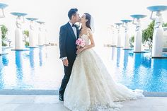 Taiwanese actor, Ken Chu marries Chinese actress Han Wenwen in a beautiful and romantic starry sky themed wedding at The Mulia, Bali. Check out their Bali wedding and all the stunning wedding photos here. Bali Wedding, Magical Wedding, Destination Wedding, Ken Chu, Chinese Actress, Most Romantic, Beautiful Eyes, Celebrity Weddings, Wedding Photos