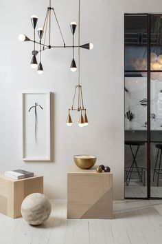 Apparatus Studio New York: the lights are on and everyone is home at Apparatus' Manhattan design studio False Ceiling Design, False Ceiling Bedroom, Modern Lighting Design, Interior Lighting, Home Lighting, Modern Lamps, Luxury Lighting, Lighting Ideas, Design Studio